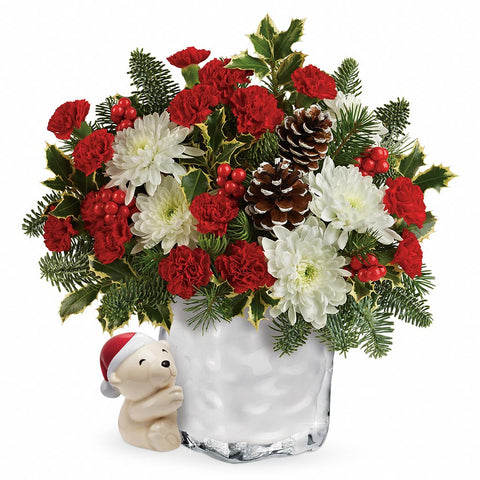 Send-a-Hug Bear Buddy Bouquet - Giving Blooms