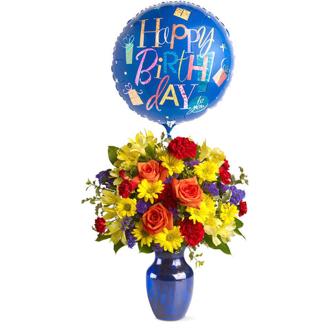 Fly Away Birthday Bouquet - Giving Blooms