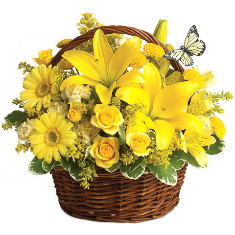 Basket Full of Wishes Bouquet - Giving Blooms