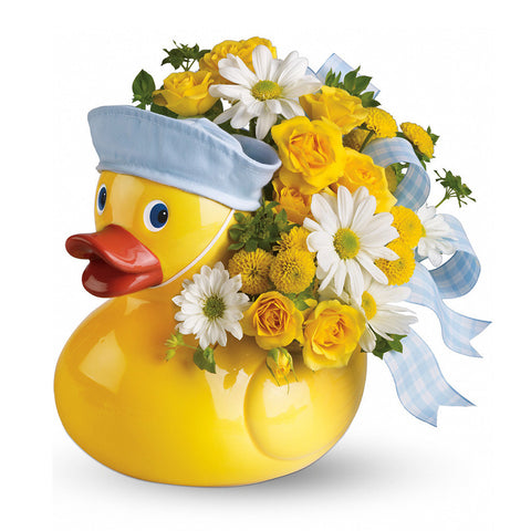 Ducky Delight Bouquet - Blue - Giving Blooms