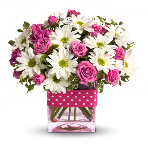 Polka Dots and Posies Bouquet - Giving Blooms