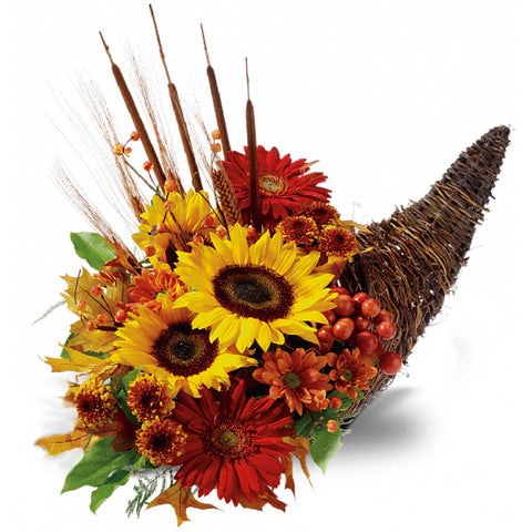 Country Cornucopia Centerpiece - Giving Blooms