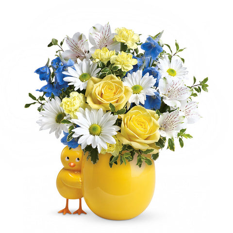 Sweet Peep Bouquet - Blue - Giving Blooms