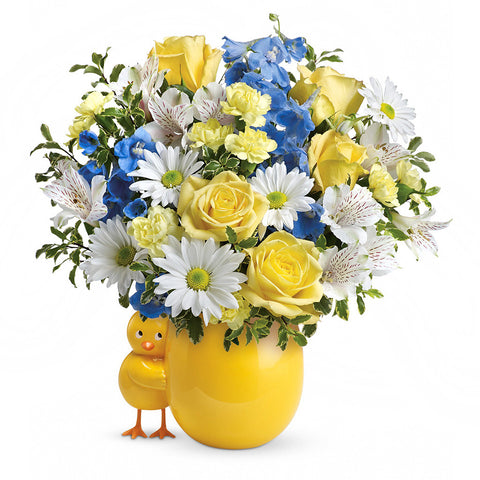 Sweet Peep Bouquet - Blue, Premium - Giving Blooms