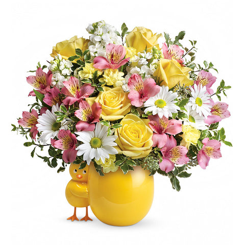 Sweet Peep Bouquet - Pink, Premium - Giving Blooms