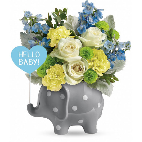 Hello Sweet Baby Bouquet - Blue