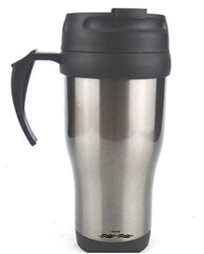 Activave Stainless Steel Travel Mug, Car Mug, Hot & Cold Stainless Steel Coffee Mug (Silver 400 ML)