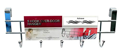 Activave Over Door Cabinet Door Hanger, Cabinet Door Hook , Over Door Utensils Hanging Rack, (5 Hook Cabinet Door Hanger)