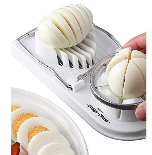 Activave Metal Egg Slicer Cutter | Slice Hard Boiled Eggs Quickly and Effectively, Durable Material, (Double Egg Slicer)