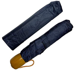 "Activave Folding Umbrella 43"" Arc 3 Assorted Colours Lightweight Sturdy Automatic Umbrella Compact Portable Umbrella with Water Absorption Bag (Navy)"