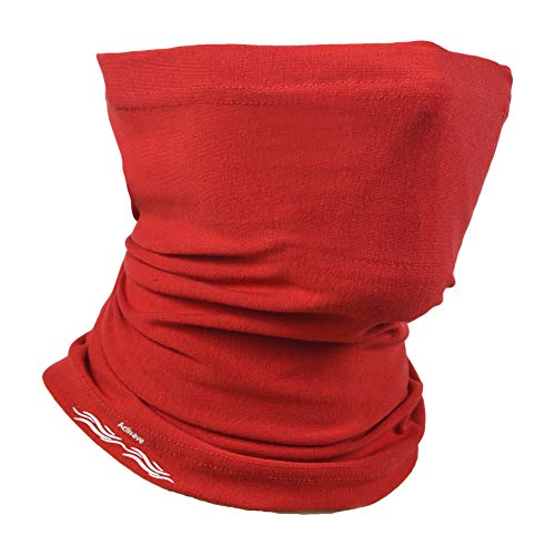 Neck Gaiter, Face Covering, With Extra Protection, Neckerchief for Men/Women, Smoke Fog, Smog, Face Cover for Fishing, Hiking, Running, Cycling, Washable, Reusable Snood Scarf (Red)
