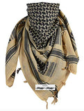 Activave Military Scarf 100% Cotton Shemagh Men's Scarves Tactical Desert Scarf Bandana for Men & Women (Yellow Black)