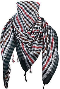 Activave Military Scarf 100% Cotton Shemagh Men's Scarves Tactical Desert Scarf Bandana for Men & Women, Keffiyeh Head Neck Wrap (Multicoloured)