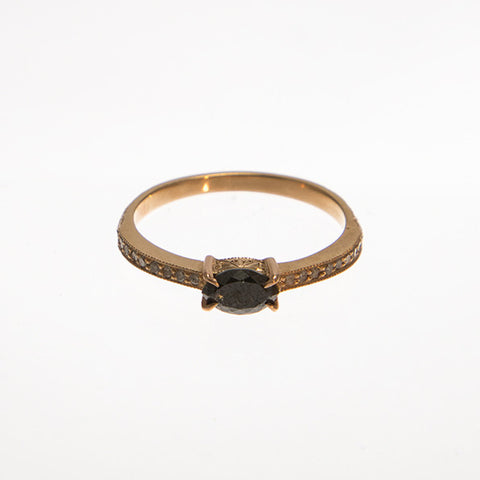 Marquis Black Diamond Ring