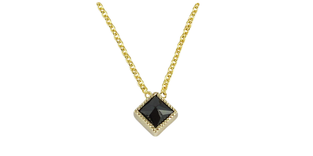 Square black diamond pendant