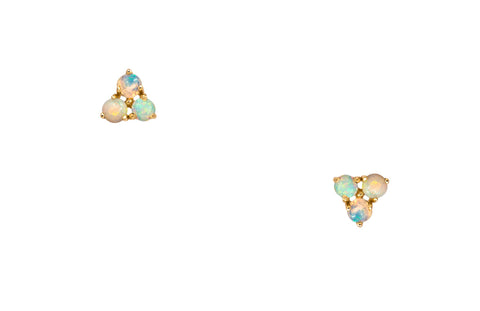Tri-Opal Earrings