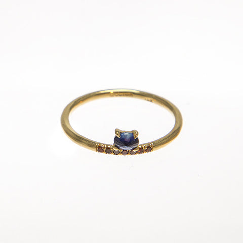 Stacked Sapphire Ring
