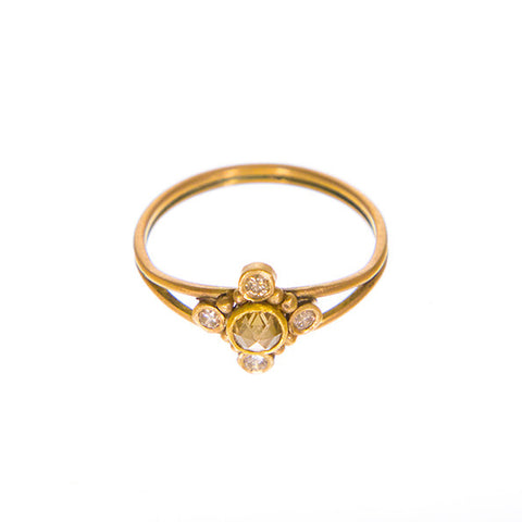 Aker Champagne rose cut ring