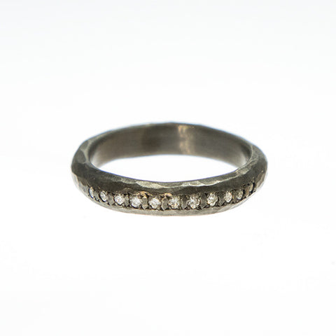 Black Rhodium and Diamond Ring