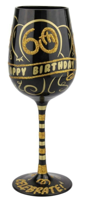 B5225A 60th Birthday Wine Glass