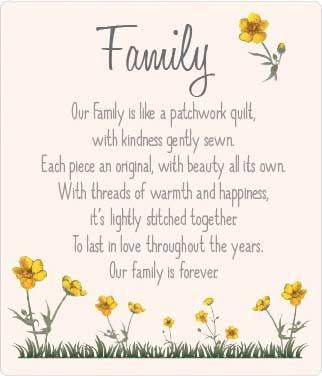 Buttercup Plaque - Family