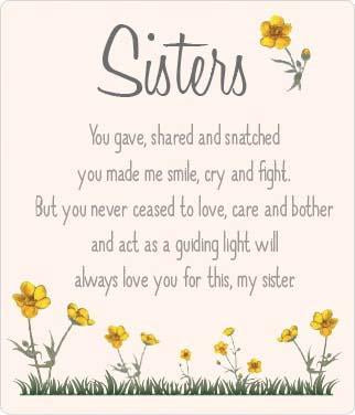 Buttercup Plaque - Sisters