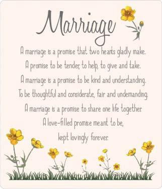 Buttercup Plaque - Marriage