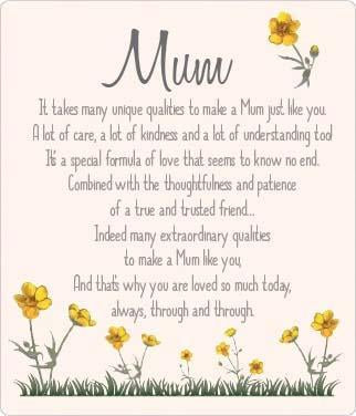 Buttercup Plaque - Mum
