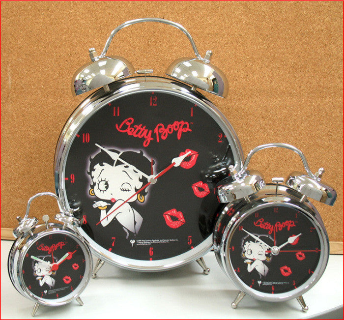 "BP1017 Betty Boop Black Face 8"" Alarm"