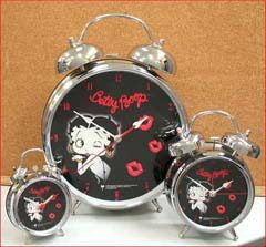 "BP1034 Betty Boop 3"" Black Face Clock"