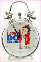 "BP1106 Betty Boop I Don't Do Mornings 3"" alarm"