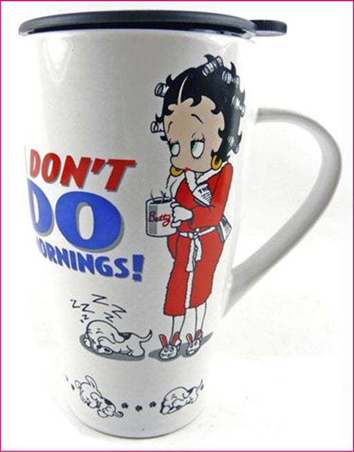 Betty Boop Travel Mug - I Don't Do Mornings