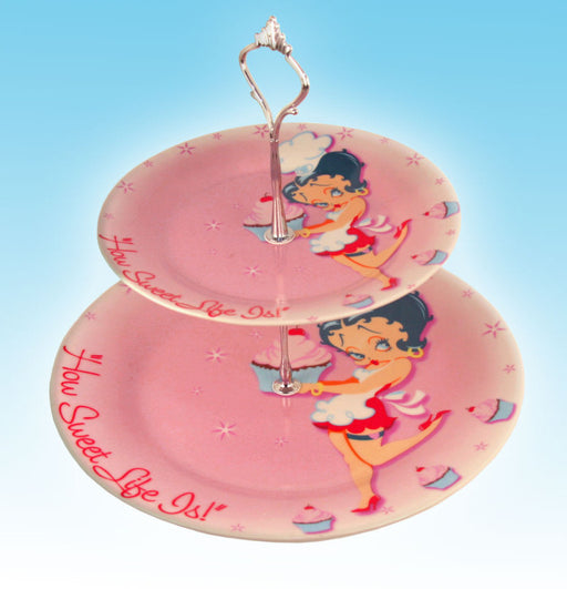 BP2067 Betty Boop How Sweet Life Is Cake Stand