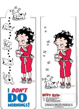 BP2083 Betty Boop I Don't Do Mornings Bookmark