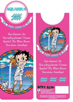 BP2084 Betty Boop Aquarius Bookmark