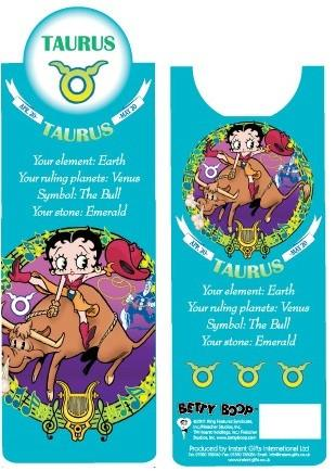 BP2087 Betty Boop Taurus Bookmark