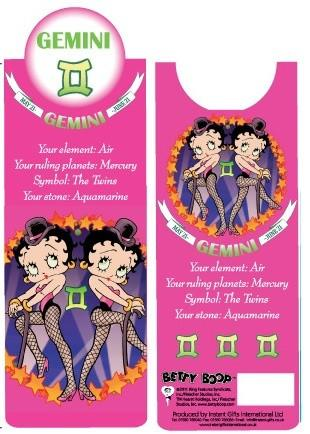 BP2088 Betty Boop Gemini Bookmark