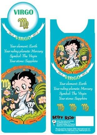 BP2091 Betty Boop Virgo Bookmark