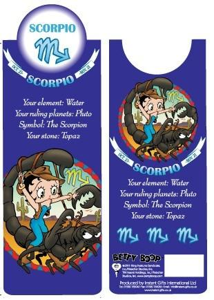 BP2093 Betty Boop Scorpio Bookmark