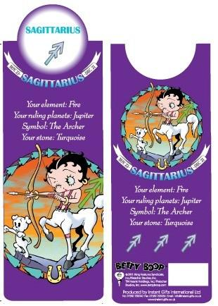 BP2094 Betty Boop Sagittarius Bookmark