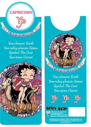 BP2095 Betty Boop Capricorn Bookmark
