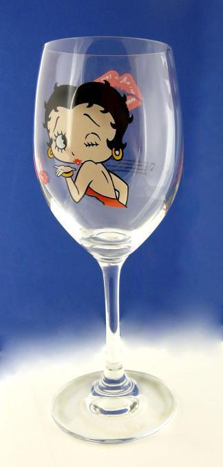 BP2113 Betty Boop Wine Glass - Betty Blowing Kiss