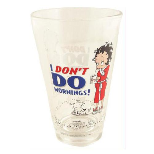 BP2125 Betty Boop 1/2 Pint Glass - I Don't Do Mornings