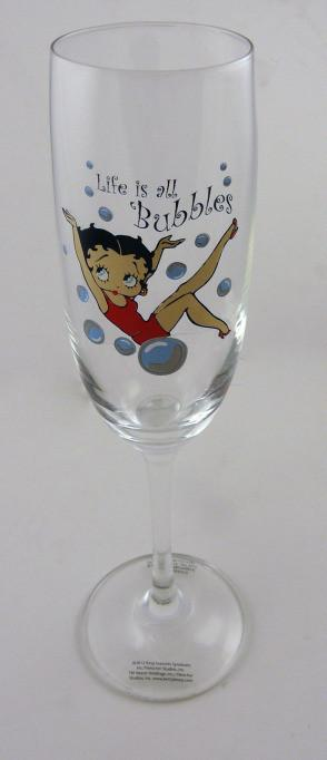 BP2137 Betty Boop Flute Wine Glass - Bubbles