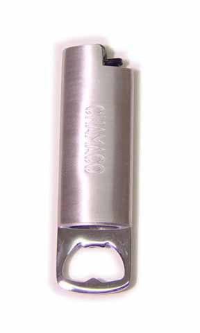 Chamaco Chrome Bottle Opener Lighter