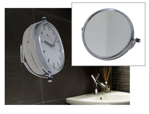 Chamaco Stylish Mirror and Clock - Fixes To Wall