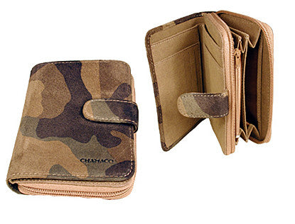 Chamaco Mens' Camouflage Suede Wallet