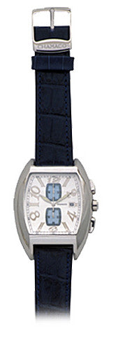 Chamaco Leather Strap Designer Mens Watch - White