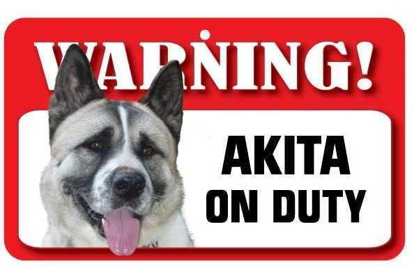 DS002 Akita Pet Sign