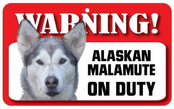 DS003 Alaskan Malamute Pet Sign